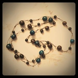 Unique Long High-Quality Bead Necklace, Boho Style